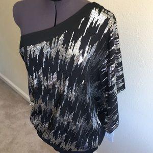 Of the shoulder sequin dress